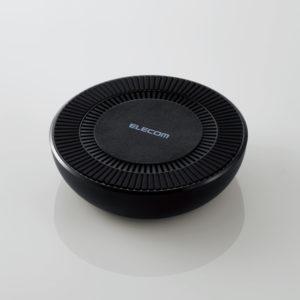 (画像)エレコム 冷却ファン搭載Qi規格対応ワイヤレス充電器(W-QA06BK)