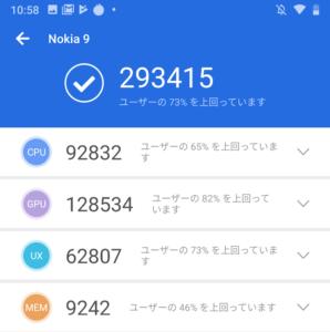 (画像)Nokia 9 PureViewのAntutuスコア